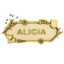 MDF Wood DIY Craft Shapes Room Door Wall YOUR NAME Sign Plaque – Forest